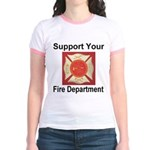 Support Your Fire Department Jr. Ringer T-Shirt