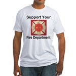 Support Your Fire Department Fitted T-Shirt