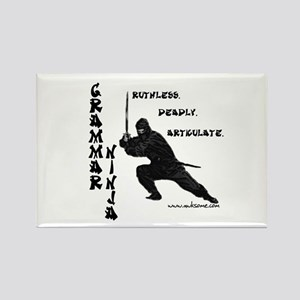 """Grammar Ninja"" Rectangle Magnet"