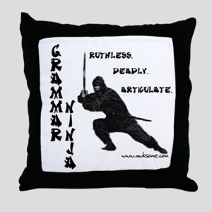 """Grammar Ninja"" Throw Pillow"