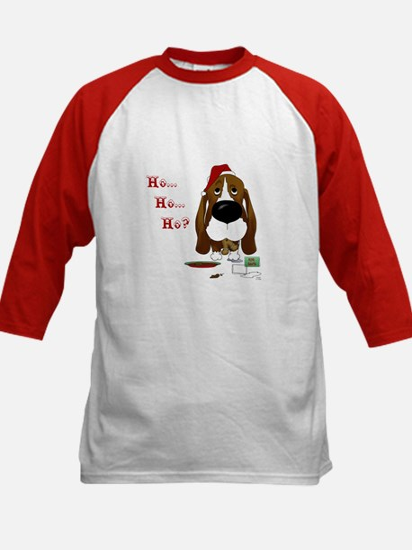 Basset Santa's Cookies Kids Baseball Jersey