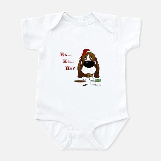 Basset Santa's Cookies Infant Bodysuit