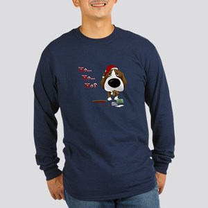 Beagle Santa's Cookies Long Sleeve Dark T-Shirt