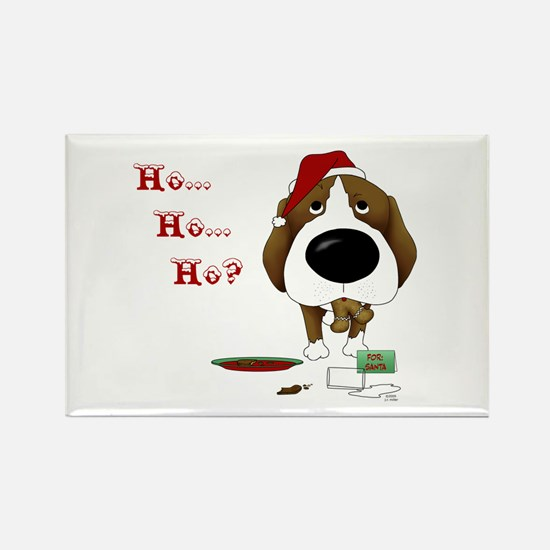 Beagle Santa's Cookies Rectangle Magnet