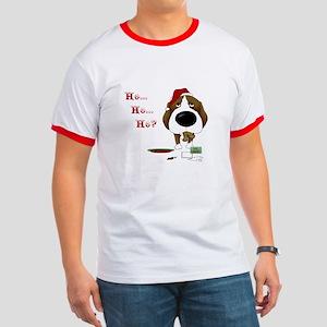Beagle Santa's Cookies Ringer T
