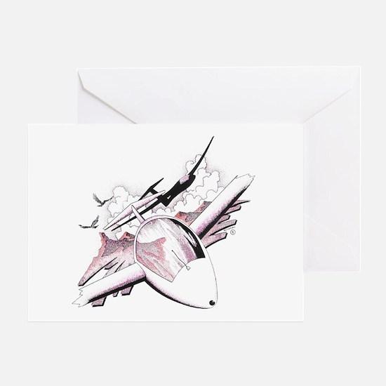 SAILPLANES_Duel Greeting Card