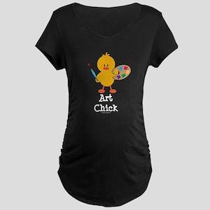Art Chick Maternity Dark T-Shirt