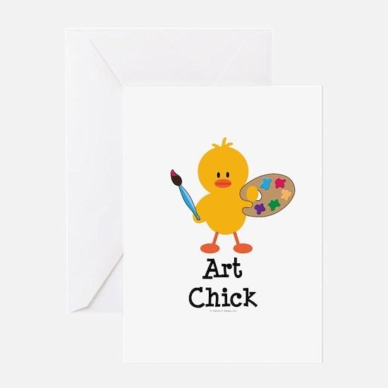 Art Chick Greeting Card