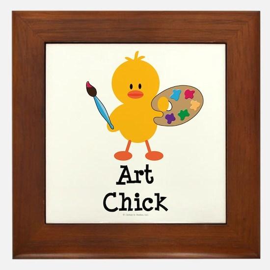 Art Chick Framed Tile