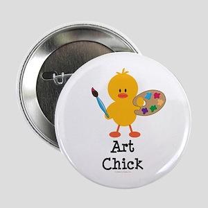 """Art Chick 2.25"""" Button"""
