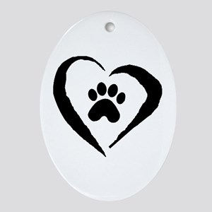 Heart Oval Ornament