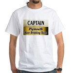 Plymouth Beer Drinking Team White T-Shirt