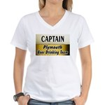 Plymouth Beer Drinking Team Women's V-Neck T-Shirt