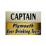 Plymouth Beer Drinking Team Rectangle Magnet (10 p