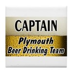 Plymouth Beer Drinking Team Tile Coaster