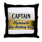 Plymouth Beer Drinking Team Throw Pillow