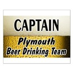 Plymouth Beer Drinking Team Small Poster