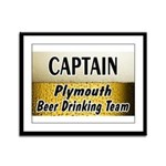 Plymouth Beer Drinking Team Framed Panel Print