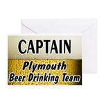 Plymouth Beer Drinking Team Greeting Cards (Pk of