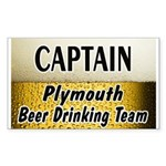 Plymouth Beer Drinking Team Rectangle Sticker
