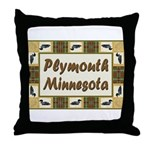 Plymouth Loon Throw Pillow