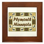 Plymouth Loon Framed Tile