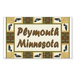 Plymouth Loon Rectangle Sticker 10 pk)