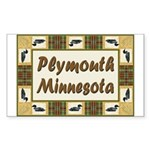 Plymouth Loon Rectangle Sticker 50 pk)