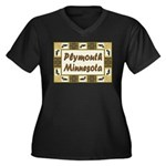 Plymouth Loon Women's Plus Size V-Neck Dark T-Shir