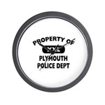Property of Plymouth Police Dept Wall Clock
