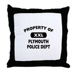 Property of Plymouth Police Dept Throw Pillow