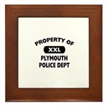 Property of Plymouth Police Dept Framed Tile