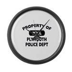 Property of Plymouth Police Dept Large Wall Clock