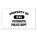 Property of Plymouth Police Dept Sticker (Rectangl