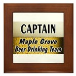 Maple Grove Beer Drinking Team Framed Tile