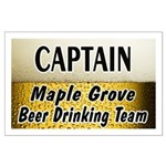 Maple Grove Beer Drinking Team Large Poster