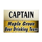Maple Grove Beer Drinking Team Mini Poster Print