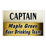 Maple Grove Beer Drinking Team Rectangle Sticker