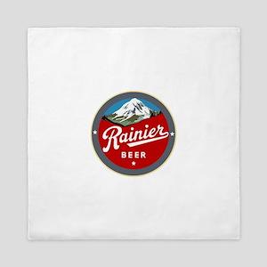 Historic Rainier Beer logo Queen Duvet