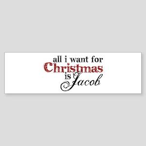 Jacob Black for Christmas Bumper Sticker