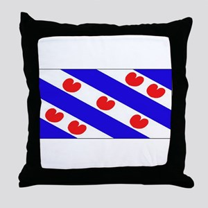 Friesland Frisian Blank Flags Throw Pillow