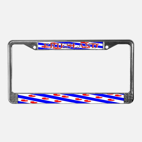 Friesland Frisian Blank Flags License Plate Frame
