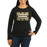 Maple Grove Loon Women's Long Sleeve Dark T-Shirt