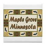 Maple Grove Loon Tile Coaster