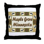 Maple Grove Loon Throw Pillow