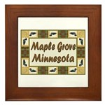 Maple Grove Loon Framed Tile