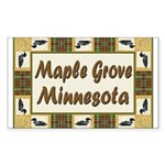 Maple Grove Loon Rectangle Sticker 10 pk)