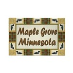 Maple Grove Loon Rectangle Magnet