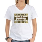 Maple Grove Loon Women's V-Neck T-Shirt