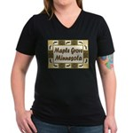 Maple Grove Loon Women's V-Neck Dark T-Shirt